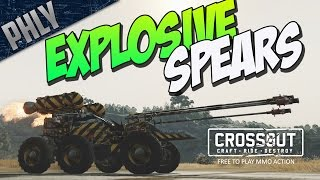 Crossout - EXPLOSIVE SPEARS & ROCKET CAR (Crossout Gameplay)