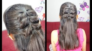 Pull Through Braid (Half Up) | Quick and Easy Hairstyles | Hairstyles for School