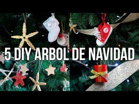 5 manualidades para decorar el arbol de navidad youtube - Manualidades para decorar el arbol de navidad ...