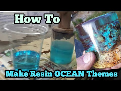 Epoxy resin and combining it with wood making a ocean scene