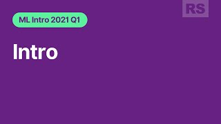 RS School ML intro webinar