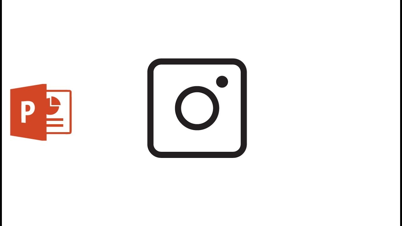 Draw a Instagram icon in Microsoft PowerPoint 2016