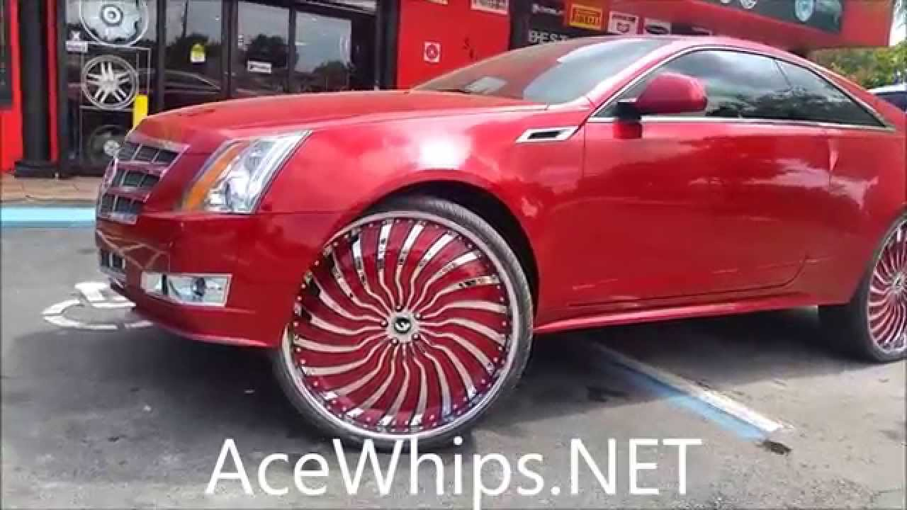 Acewhips Net Red Cadillac Cts Coupe On 28 Quot Forgiatos
