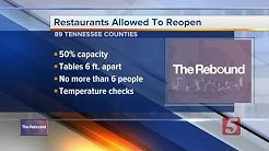 Tennessee restaurant dining rooms allowed to reopen starting Monday