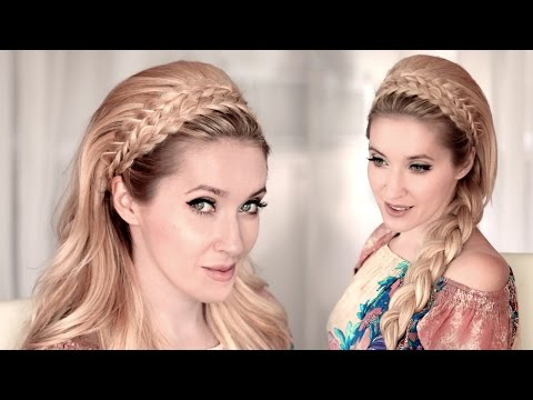 Braided Headband Hairstyle Tutorial For Medium/long Teased Hair ❤ BACK TO SCHOOL, Everyday, Wedding