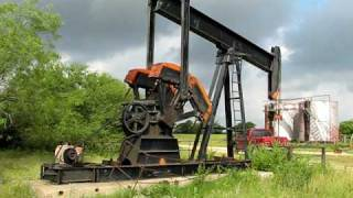 Oil Well Pumping Unit In Bryan, Texas.