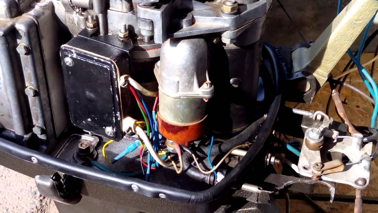 лодочный мотор вихрь-25 электронное зажигание схема