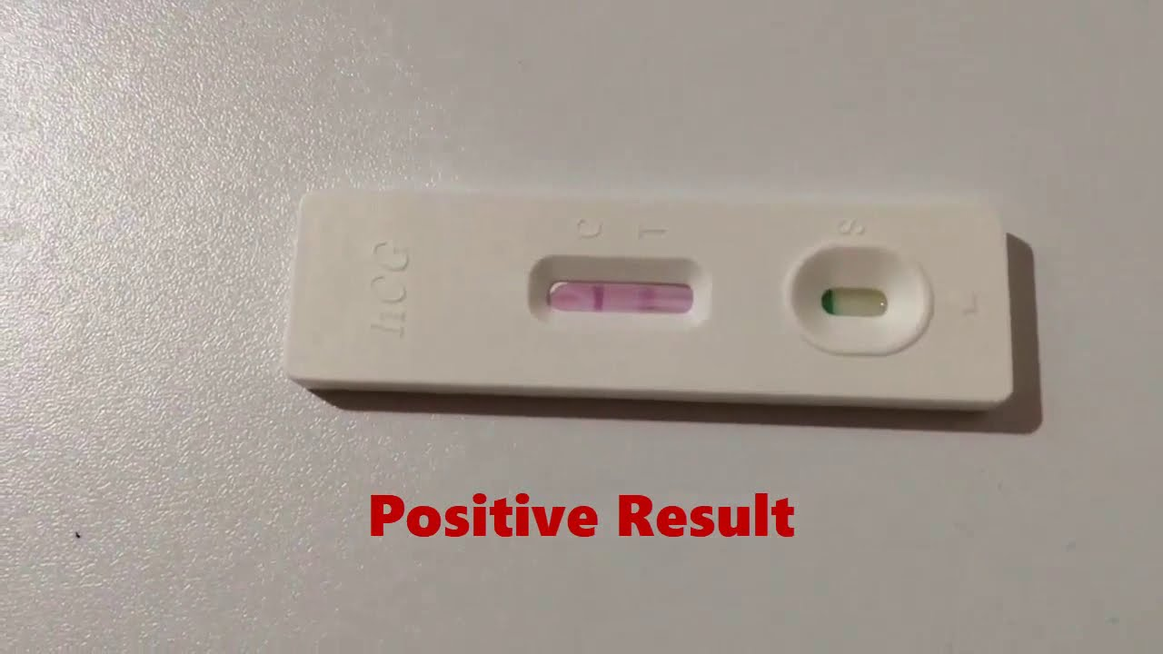 Pregnancy Test Positive Result Youtube