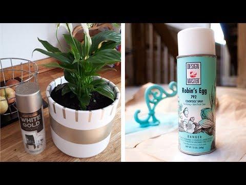 33 Easy Spray Paint Decor Ideas