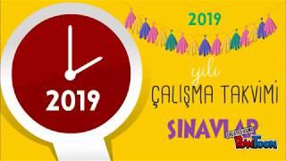 2019 Eğitim Öğretim Yılı Çalışma Takvimi | 2018-2019 Sınavlar ve  Resmi Tatiller#