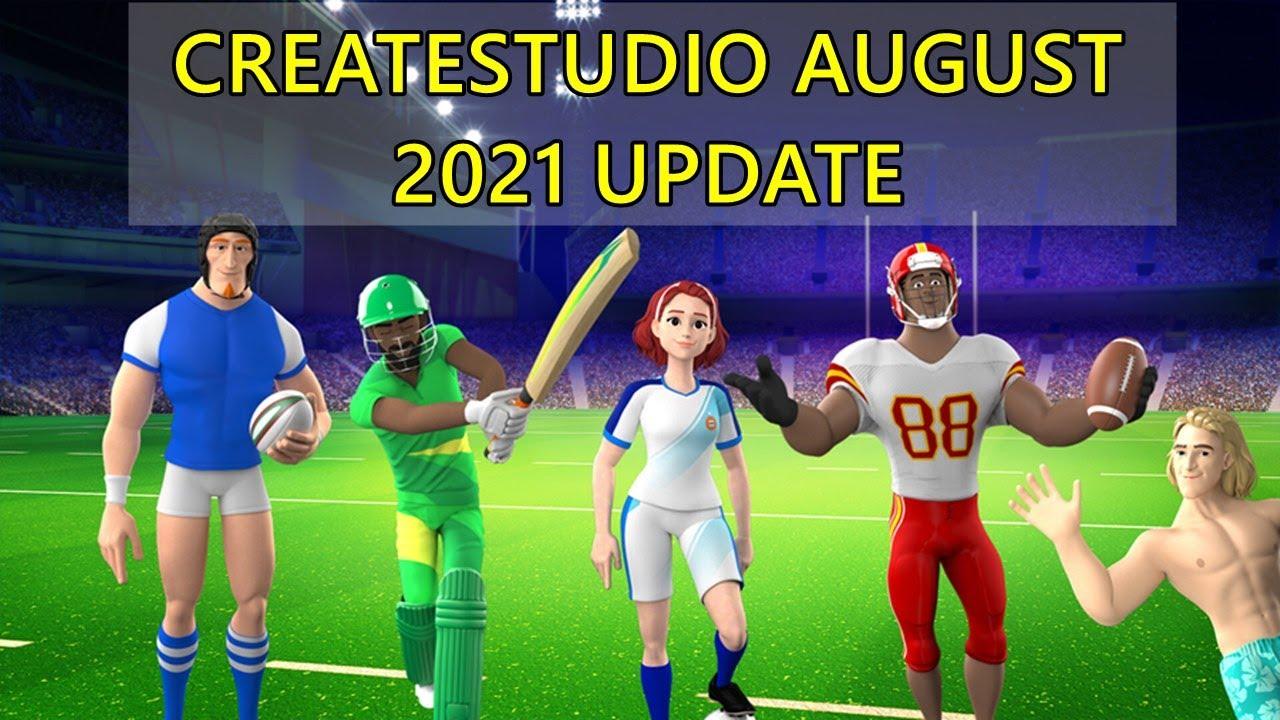 CreateStudio August 2021 Update Download