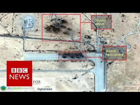 IS 'destroyed Syria airbase' used by Russia - BBC News