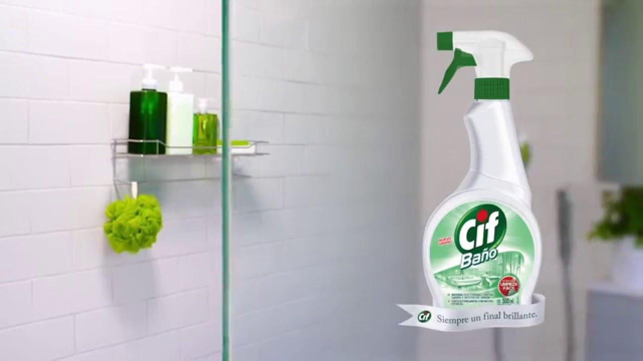 Cif c mo limpiar los azulejos del ba o para darles un brillo especial youtube - Como limpiar azulejos del bano ...