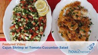 Cajun Shrimp With Tomato-cucumber Salad