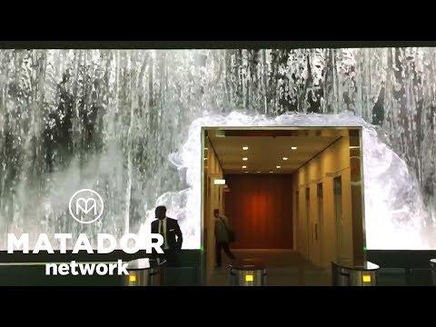 INSANE Salesforce Lobby Waterfall
