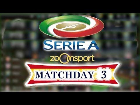 Serie a - schedule fixtures matchday 3 - 2016/17