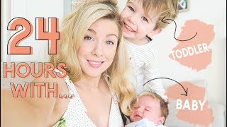 24 HOURS WITH A NEWBORN AND A TODDLER | KATE MURNANE
