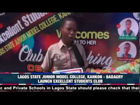 LAGOS STATE JUNIOR MODEL COLLEGE, BADAGRY LAUNCH EXCELLENT STUDENTS CLUB