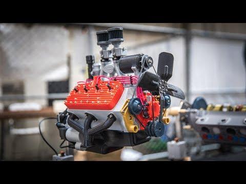 Working 3D-Printed Car Engine Models!