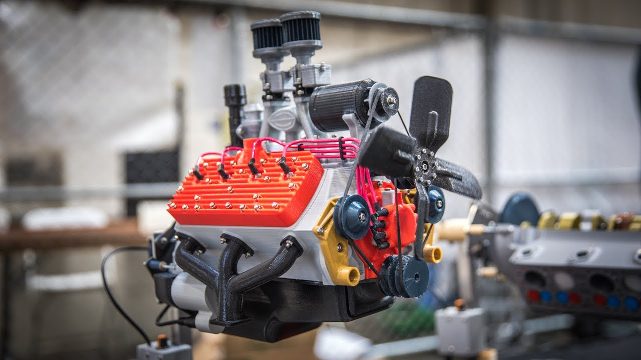 medium resolution of working 3d printed car engine models