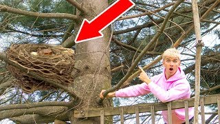 MONSTER IN POND!! (HIDING IN TREE)