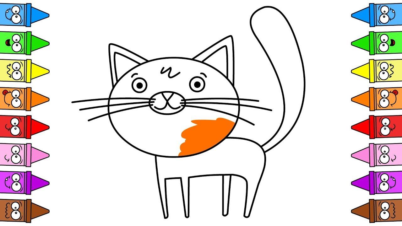 Kotek Rysowanie Kota I Kolorowanie Kota Youtube