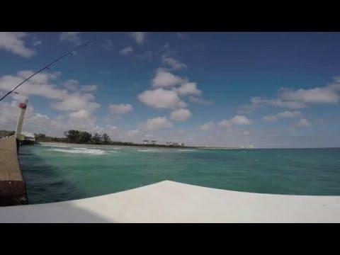 Fishing at Dania Beach Pier. South Florida.