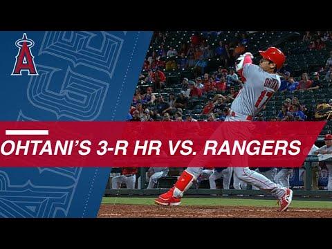 Ohtani blasts a 3-run pinch-hit homer against Rangers