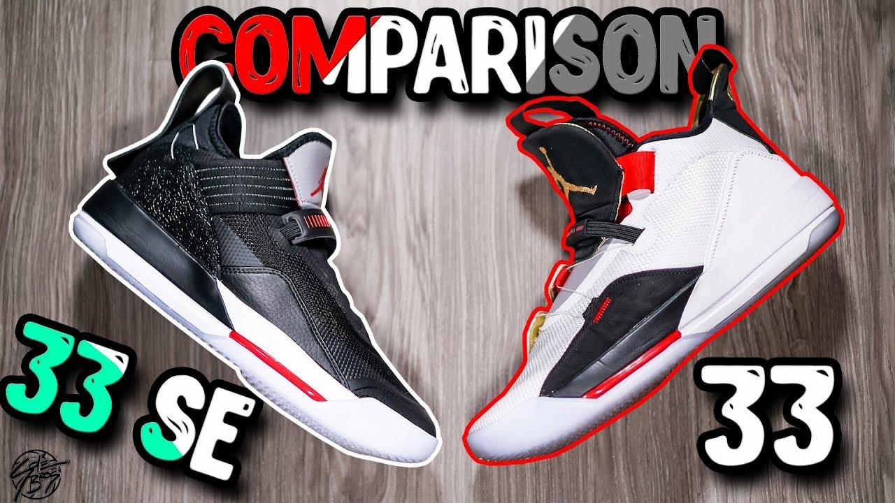 428fe1785a3 Jordan 33 SE (Low) & Jordan 33 Comparison! What's Better?