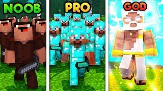 Minecraft - NOOB VS PRO VS GOD - ARMY BATTLE SIMULATOR!