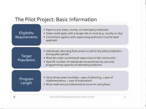 Reentry and Employment White Paper, Pilot Site Opportunity