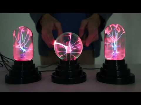 Plasma Ball Lamp Light Touch Sensitive USB Powered Nebula Sphere Globe Novelty Toy