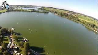 Flug über Strandcamping und den Waginger See