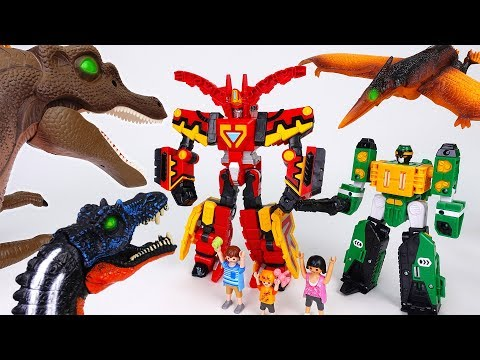 Thumbnail: Go Hello Carbot King-Dizer Armor-Force~! Protect People And Defeat The Bad Dinosaurs - ToyMart TV