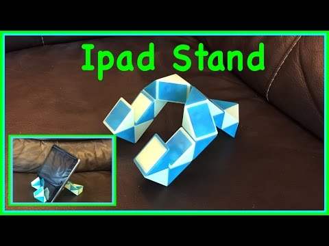 Rubik's Twist Or Smiggle Snake Puzzle Tutorial: How To Make An Ipad Or IPhone Stand Step By Step