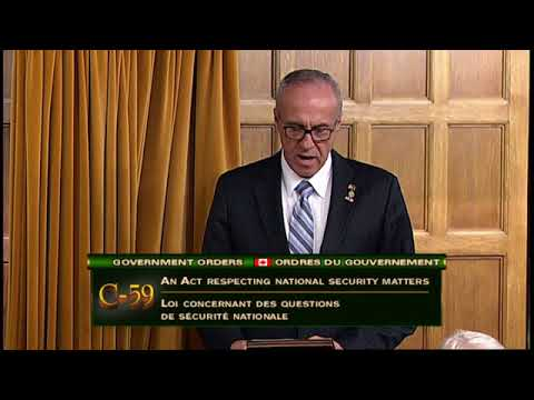 MP Motz speaks on the National Security Act
