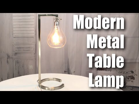 Modern metal table lamp with glass shade by ids home review youtube modern metal table lamp with glass shade by ids home review aloadofball Image collections