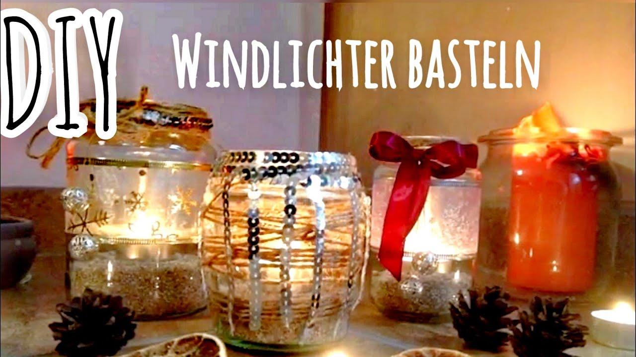 einmachgl ser dekorieren weihnachtsdeko basteln winterdeko windlichter youtube. Black Bedroom Furniture Sets. Home Design Ideas