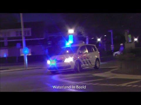 Prio 1 Politievoertuig met spoed naar valpartij in Amsterdam Noord