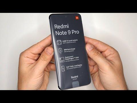 Xiaomi Redmi Note 9 Pro Global Version 6GB 128GB Interstellar Grey, NFC, 5020mAh,Unboxing-First Boot