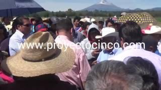 Campesinos de Tepeyecac, Texmelucan piden puentes en el Arco Poniente