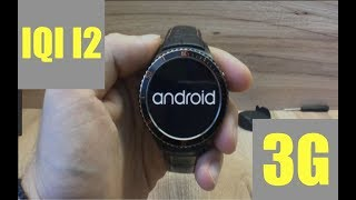 IQI I2 3G Smartwatch Phone | SOLID I2 Android 5.1 Round Smartwatch: 1st Look