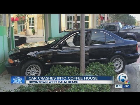 Car into building in West Palm Beach