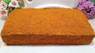 Торт МЕДОВИК за 30 МИНУТ Простой рецепт без раскатки коржей Буквально тает во рту Honey cake