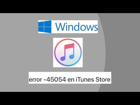 Error  45054 en iTunes Store
