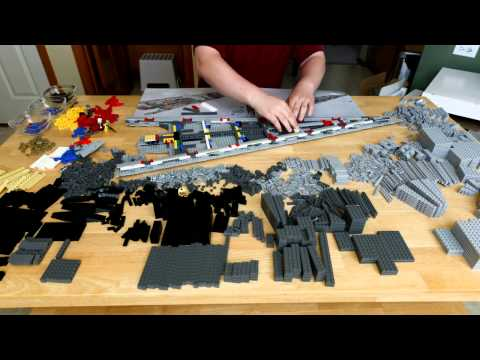 Lego Super Star Destroyer Executor 10221 Time Lapse Build