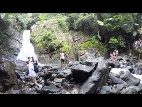 Hiking to waterfall in San Juan PR