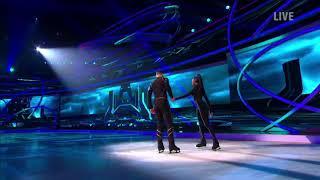 Perri Shakes-Drayton and Hamish Gaman skating in Dancing on Ice (7/1/18)