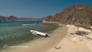 Parque Tayrona - Cabo San Juan y Playa Cristal en Colombia vista desde el aire con Drone