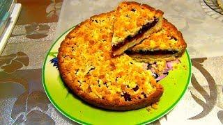 Песочный пирог с вишней. Просто, быстро и очень вкусно.